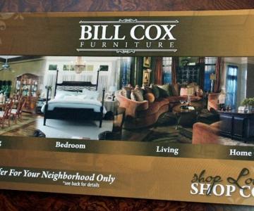 Bill Cox Furniture Postcard
