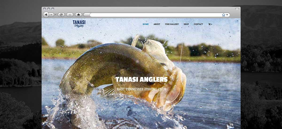 Tanasi Anglers Web Design