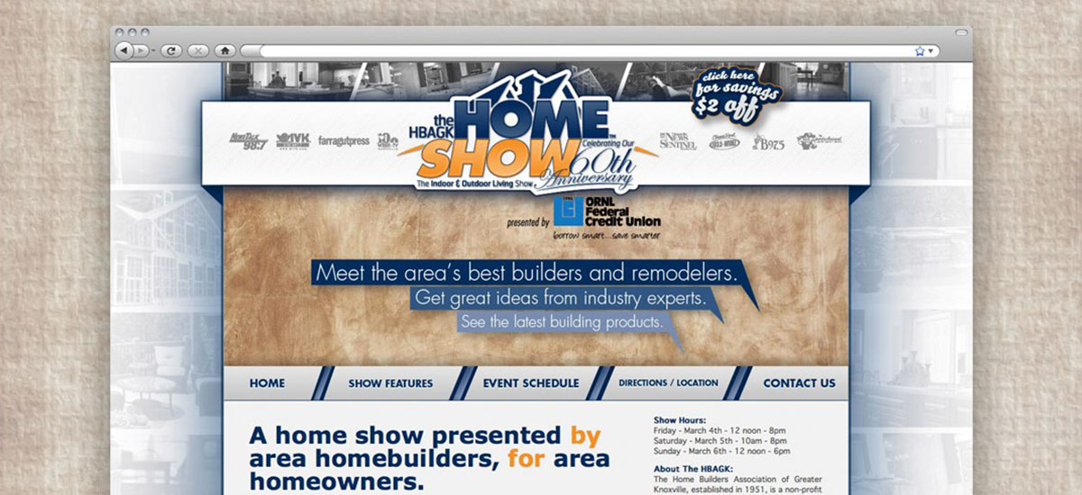Knoxville Home Show Web Design