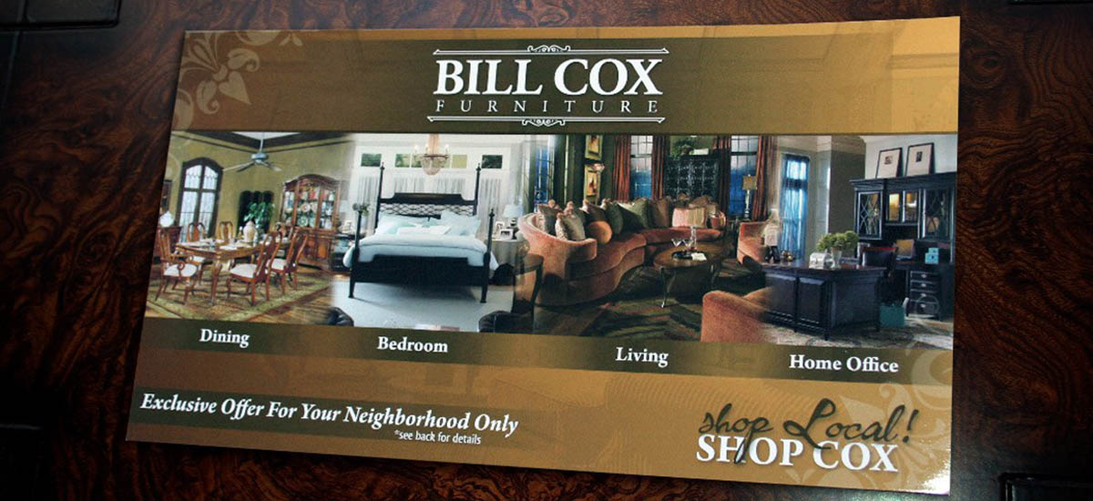 Bill Cox Furniture Postcard